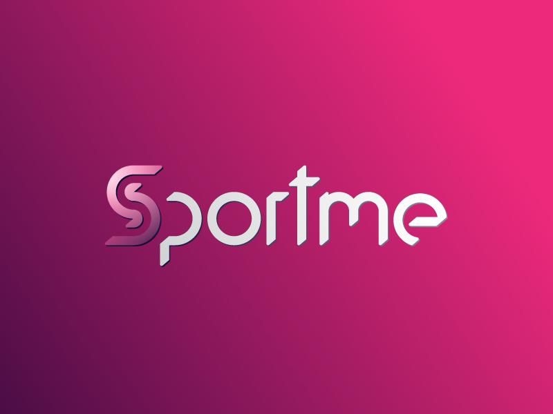 SPORTME logotipo completo sobre fondo rojo